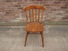 PWS17 Slat Back Chair with Plain Wooden Seat