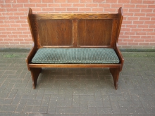 BENP1 Pew Style Bench Seat with Green Seat Pad
