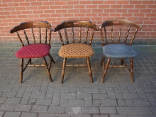 CCMF12 Captains Chairs with Mixed Upholstery