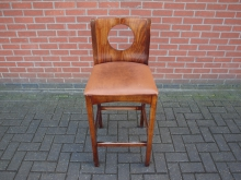 BSBL2 High Bar Stool with Leather Seat Pad