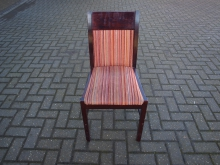 RDCOR27 Restaurant Dining Chair with Orange Striped Upholstery