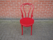 BWSHH32 Wooden Bentwood Chair in Red