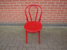 RBWLB13 Wooden Bentwood Chair in Red