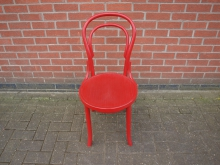 LLBWR6 Wooden Bentwood Chair in Red