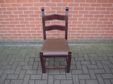 LDWBC5 Ladder Back Chair with Brown Leather Seat