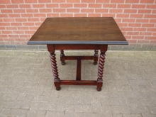 BTWDW1 Restaurant / Bar Table with Barley Twist Leg. Top 90cm x 70cm