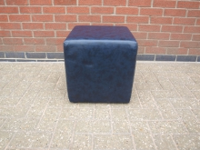 BLCUB1 Black Faux Leather Cube 40cm x 40cm