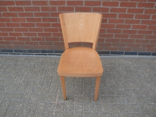 BRLWC15 Restaurant Dining Chair with Plain Wood Seat