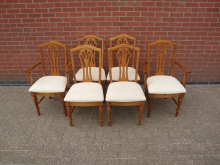 SETRDC1 Set of 6 Restaurant Dining Chairs. 2 Carvers + 4 Side Chairs