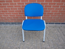 CBSC14 Conference Stacking Chair with Blue Upholstery