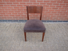 MAHRD6 Restaurant Dining Chair with Brown Upholstery