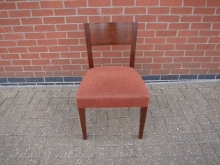 MRDC24 Restaurant Dining Chair with Orange Upholstery