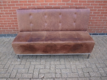 LEBS2 Leather Bench Seat. Width 160cm