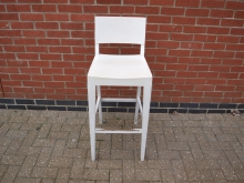 WSHB4 High Bar Stool in White