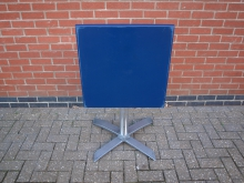 BLFT3 Flip Top Table in Blue. Top 60cm x 60cm