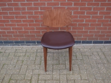 RDCLU5 Restaurant / Dining Chair with Leather Upholstery