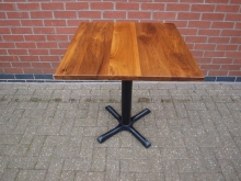 SQSWT Pedestal Table. Solid Wood Top. 70cm x 70cm