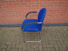 CNFB40 Conference Chair with Blue Upholstery