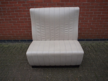 LBSB4 Leather High Back Bench in Beige