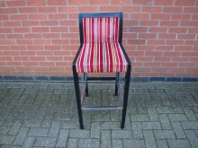 SFHB4 High Bar Stool Upholstered in Stripey Fabric