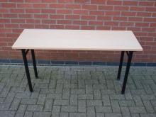 FLCT8  Banqueting Table with Folding Legs. Top 135 cm x 45 cm