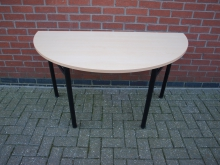 HRFLT2 Half Round Table with Folding Legs