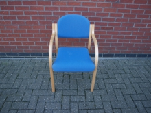 CNF150 Conference Chair with Light Wood Frame
