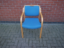 CCBL50 Conference Chair with Light Wood Frame