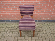 PSRC9 Restaurant Dining Chair. Stripey Upholstery