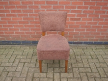 BWNC4 Restaurant Dining Chair. Brown Upholstery