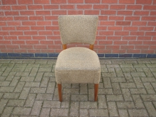 GRFB7 Restaurant Dining Chair. Green Upholstery