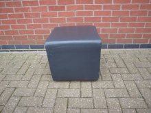 CSGL2 Cube Seat in Grey Leather