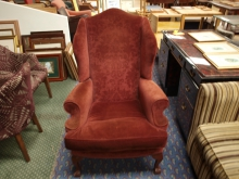 WCRF2 Wing Chair. Red Upholstery