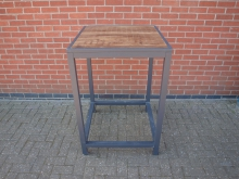 PTAL3 High Poseur Table. Aluminium Frame with Wooden Top