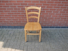 PSLW40 Restaurant/ Dining Chair with plain Wooden Seat