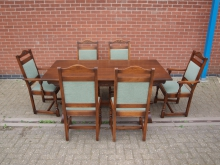 SXDS1 Dining Set. Table and Six Chairs