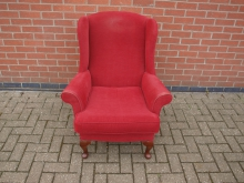 WBQA7 Wing Back Chair. Red Upholstery
