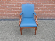CRVB1 Carver Chair in Blue Leather