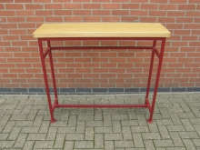 CSLE4 High Console Table with Red Metal Frame. Various Sizes Available