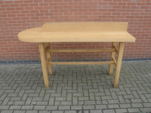 DSHT3 Solid Oak Double Sided High Table with Bag Hooks