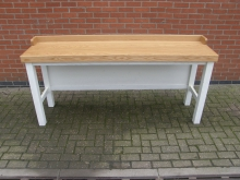BBHT1 Solid Oak High Table with Back Board
