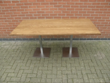 LRTBS10 Large Table with Brushed Steel Base. Top 170cm x 80cm