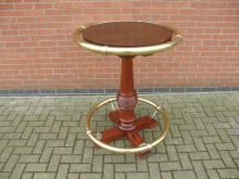 PTAT6 Andy Thornton High Poseur Table with Brass Rails