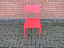 REPC25 Red Plastic Dining Chair