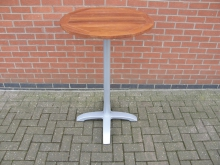 TKPT1 Round Poseur Table with Teak Top