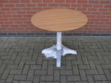 PTZB1 Pedestal Table with Zebrano Top