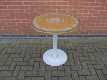 CTCH3 Pedestal Table with Cafe Thorntons Chocolate Heaven Glass Top