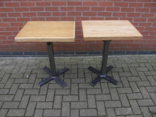 PTMB7 Pedestal Table with Metal Base. Top Size 60cm x 45cm