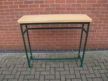 GRNH7 High Console Table with Green Metal Frame. Width 120cm