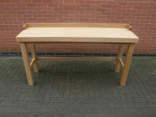 EXHCT4 Ex-Showroom Oak High Console Table. Width 175cm